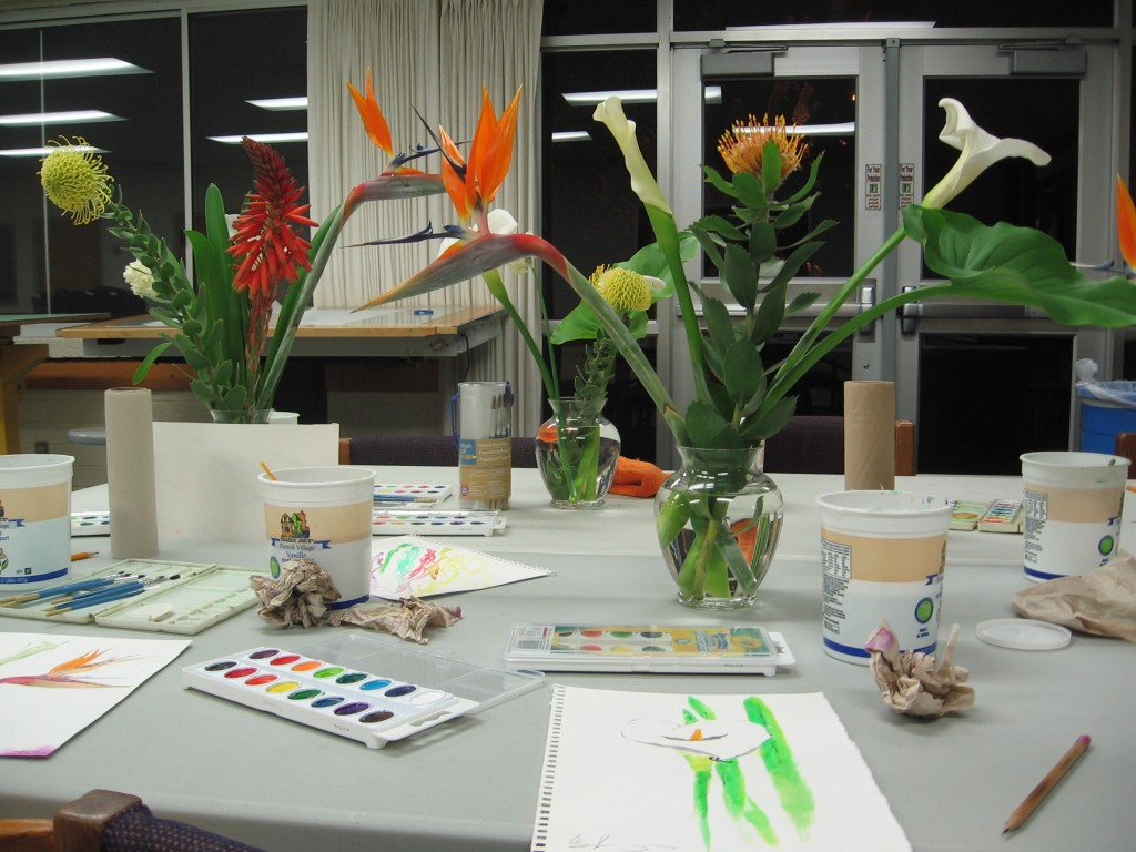 Photo of flowers used for painting
