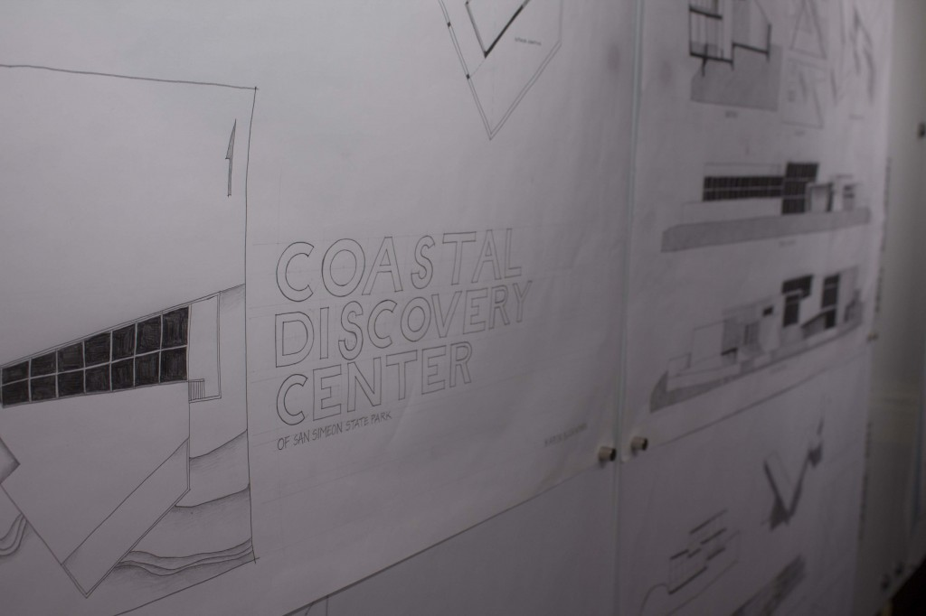 "A white piece of paper reads ""Coastal Discovery Center."""