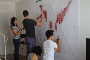 Photo of preparations for TEDxUCLA