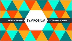 Graphic of brightly colored triangles that says Symposium: Student Journal of Science and Mathematics