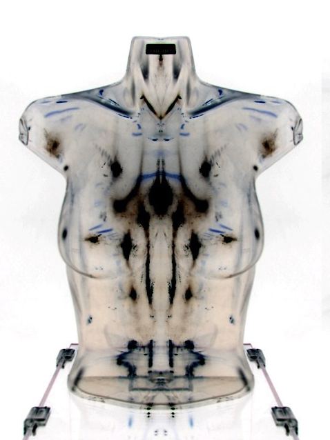 Image of a woman's transparent torso by Rita Blaik for BODYidentity