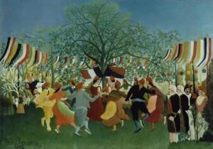 Painting called A Centennial of Independence by Henri Rousseau
