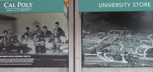 Photo of Special Collections images of Cal Poly at University Store