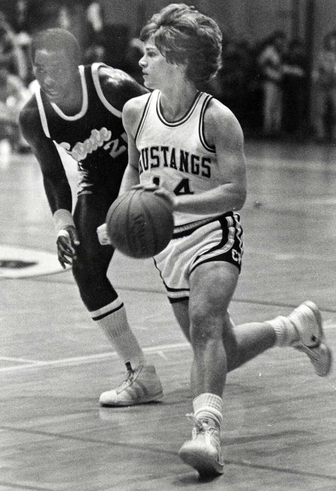 Jim Schultz took the all-time record for assists in his '80-'81 season. The runner-up? Jim's '79-'80 season. (University Archives Photograph Collection, University Archives, ua-pho_00000834)