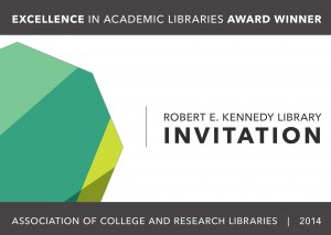 ACRL Celebration: Award Ceremony & Reception @ Kennedy Library 2nd Floor Cafe Lounge