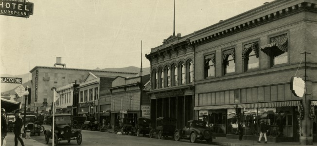 The Shinsheimer Bros. storefront on Monterey Street in downtown San Luis Obispo, c. 1925 (Sinsheimer Family Correspondence, Special Collections and Archives, California Polytechnic State University, 036-8-e-123-05-02)