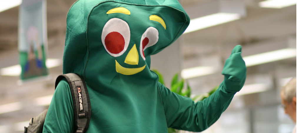 Gumby at Kennedy Library