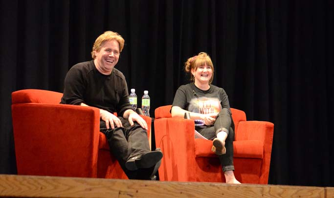 Photo of Victoria Billings and Stephen Chbosky
