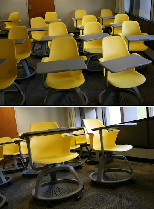 Chairs in the classroom