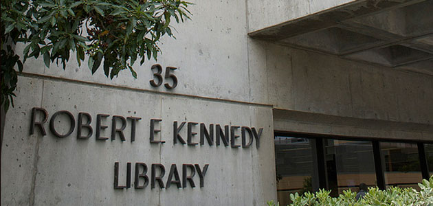 Photo of Kennedy Library exterior