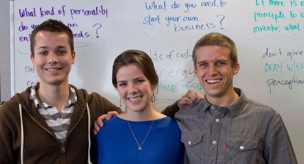Entrepreneurs lead a conversation at Cal Poly Science Cafe