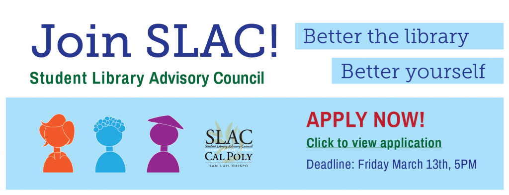 Student LIbrary Advisory Council Application
