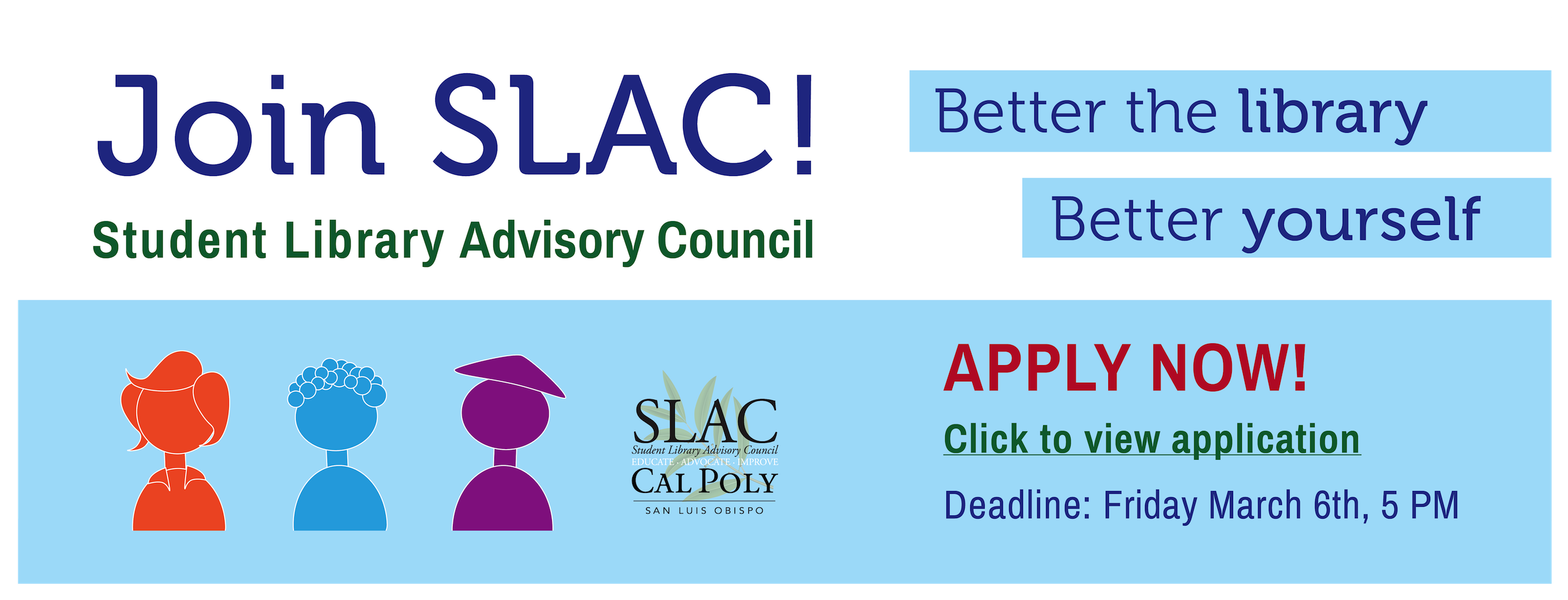 SLAC Application banner