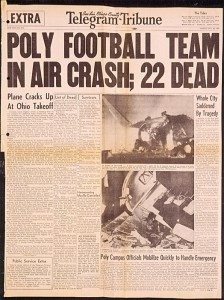 Front page of the extra edition of the San Luis Obispo County Telegram Tribune, Sunday, October 30, 1960.