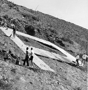 Cleaning the hillside P, 1962.