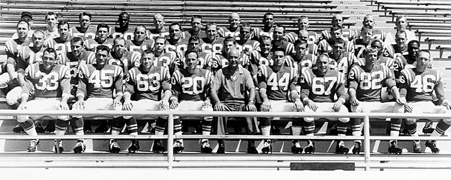 The 1960 football team, in the last photo taken before the plane crash on October 29 that took 22 lives.