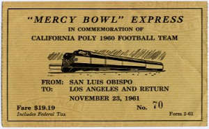 Special round-trip ticket to the Mercy Bowl benefit game.