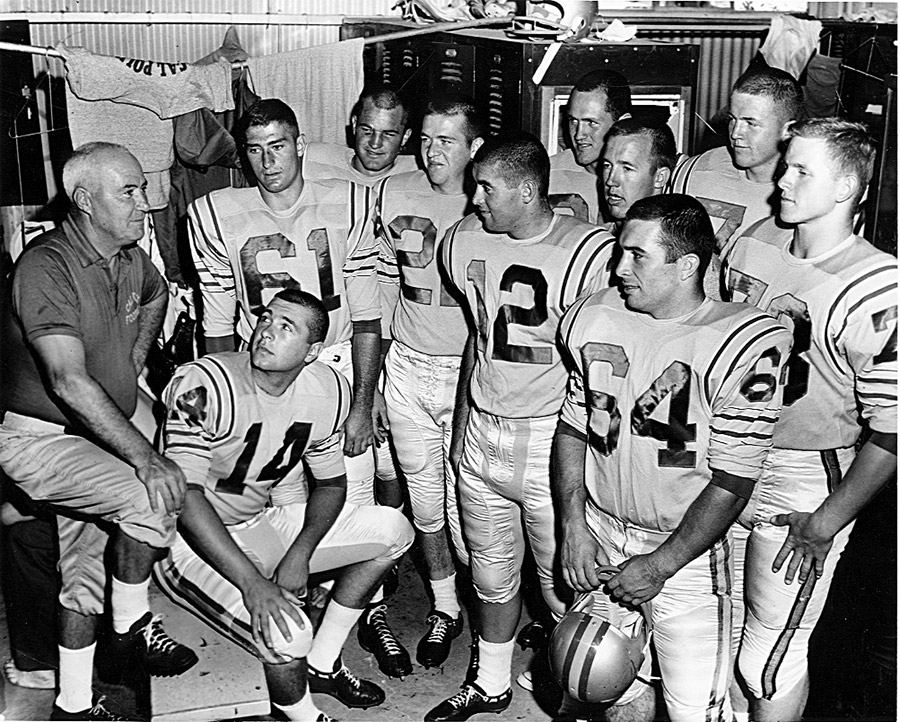 Surviving Team Members With Football Coach Roy Hughes