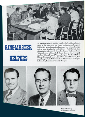 A view of the yearbook page from which the top picture was taken