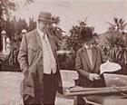 W.R. Hearst and Julia Morgan, San Simeon, c. 1921 Image courtesy of Bison Archives