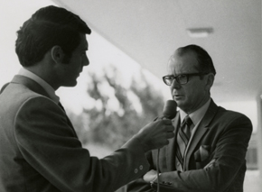 KSBY news anchor Dave Garth interviews President Elect Kennedy.