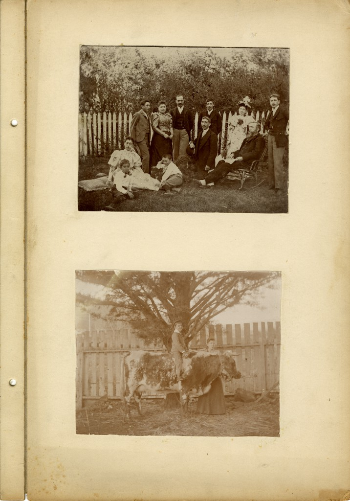 Two photographs of the Sinsheimer family