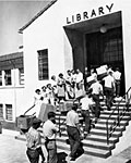 Moving into Dexter Library, 1949