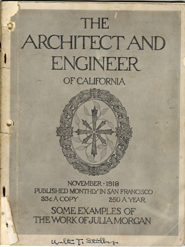 Cover page of The Architect and Engineer of California