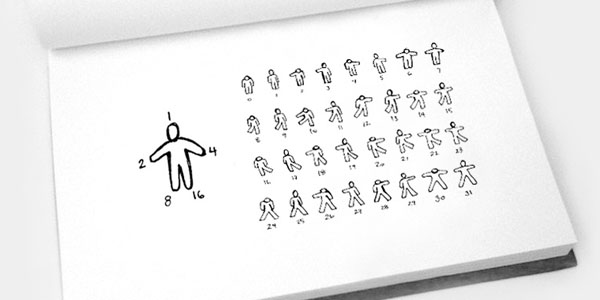 Binary Dance illustrations.