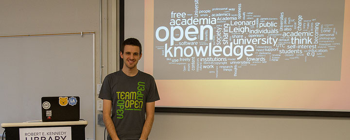 Liam talks about open access and the student experience.