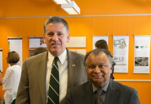 President Armstrong and Professor Omar Faruque at Elevated Foundations.