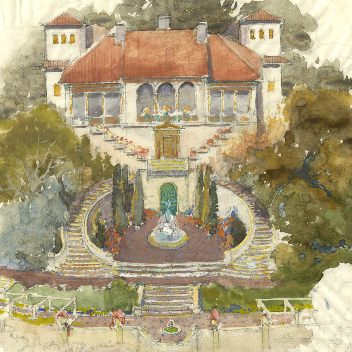 Casa del Sol, San Simeon, from the Julia Morgan Papers (010-5-I-FF54-05-01)