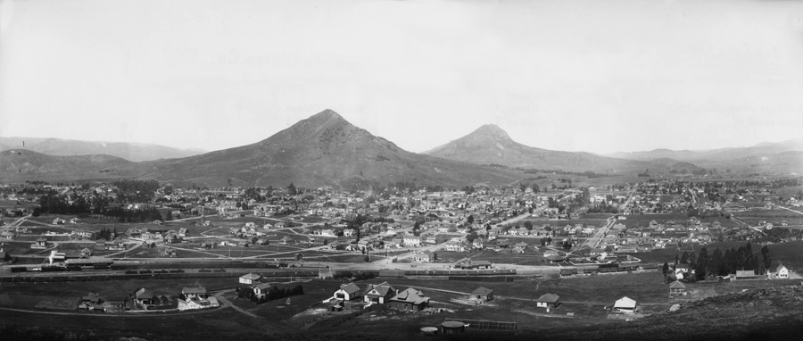 San Luis Obispo, panoramic view from Terrace Hill, 1907 [composite]