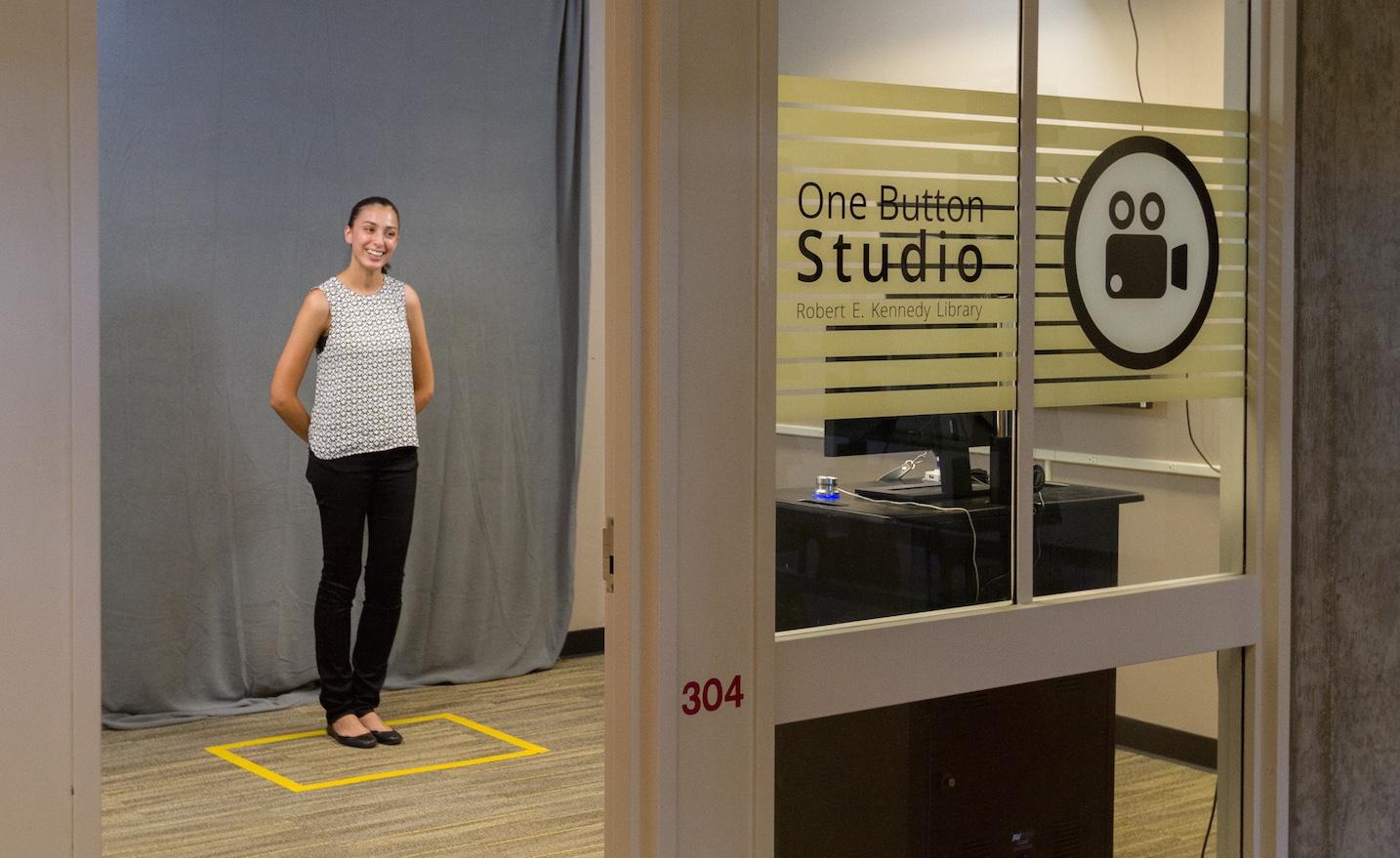 Recording video in the One Button Studio