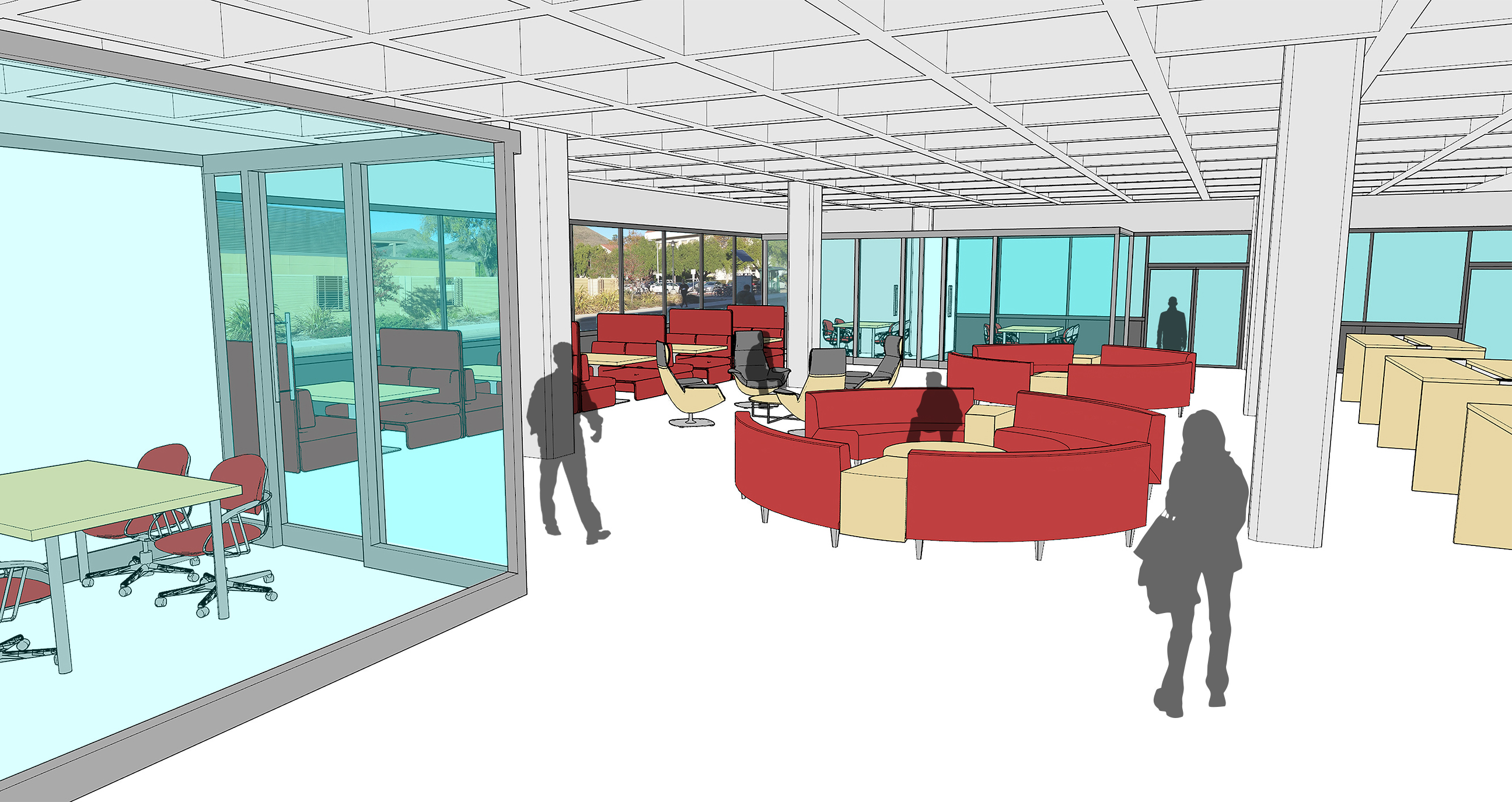 An early look at the renovations proposed for the first floor